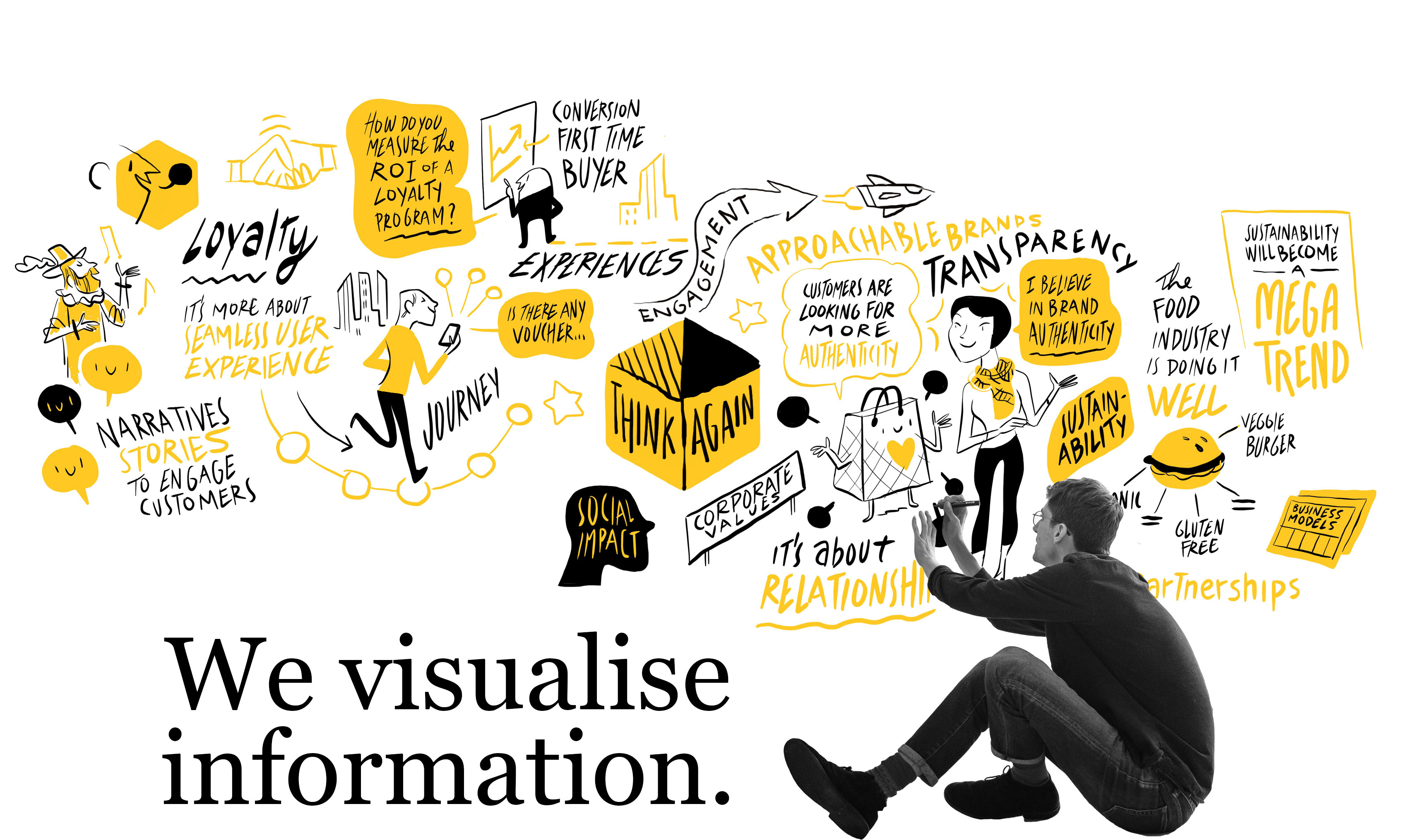 We visualise information.